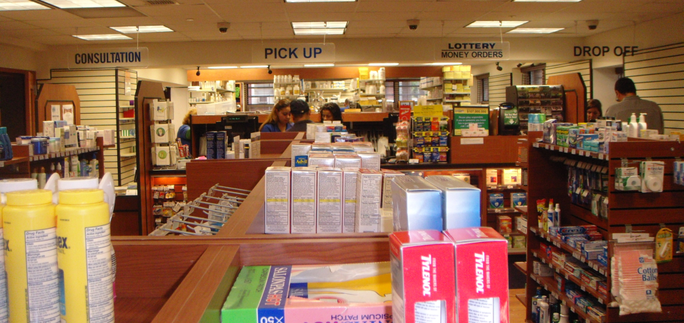 Newport Pharmacy counter