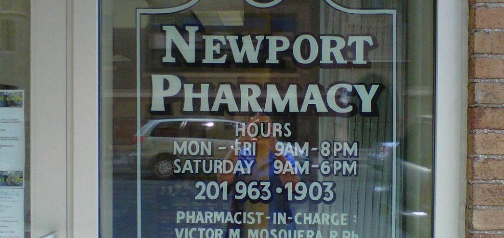 Newport Pharmacy font window