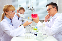 Pharmacists working in a lab